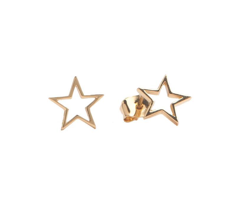 Earrings Open Star plated