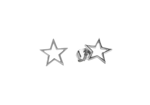 All the luck in the world Earrings Open Star silver
