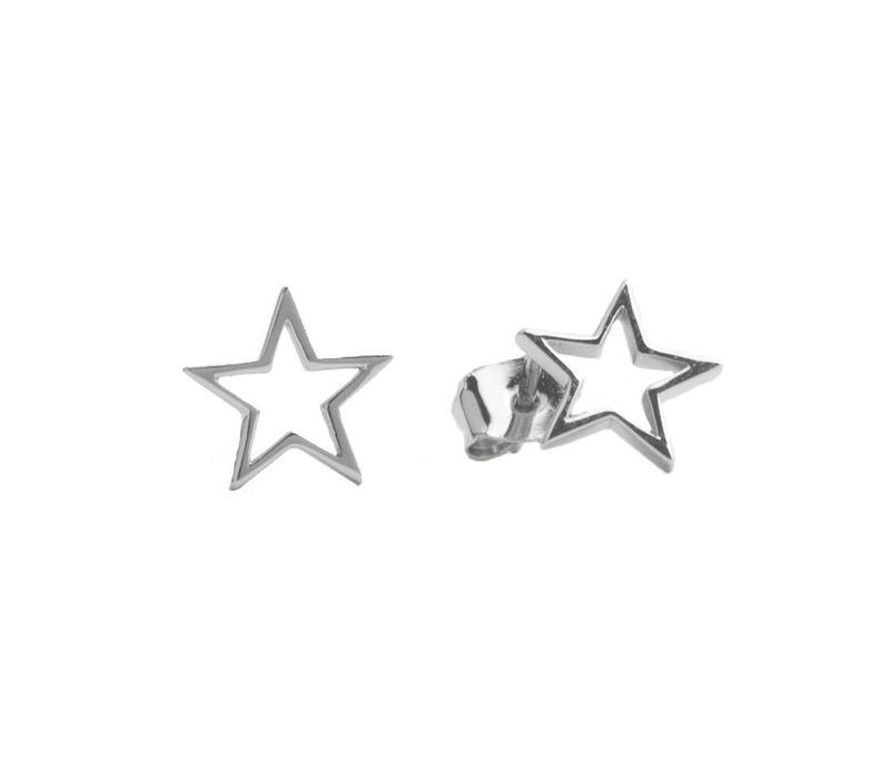 Oorbellen Open Ster zilver