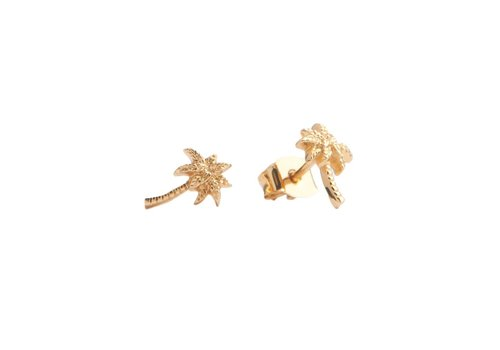 All the Luck in the World Parade Goldplated Earrings Palm