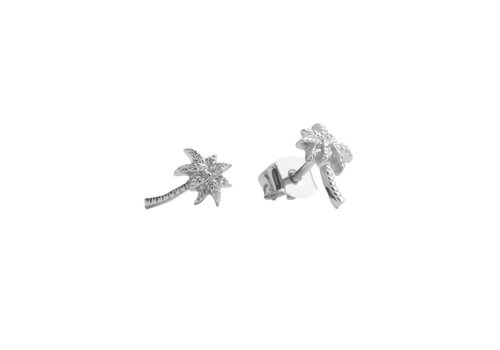 All the Luck in the World Parade Silverplated Earrings Palm