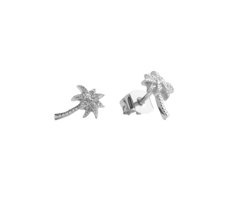 Oorbellen Palmboom zilver
