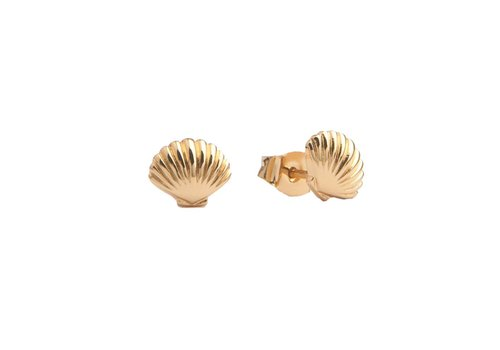 All the Luck in the World Parade Goldplated Earrings Sea Shell