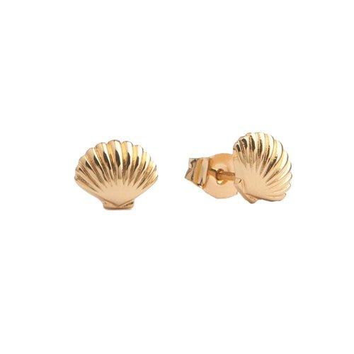 Oorbellen Zeeschelp 18K goud
