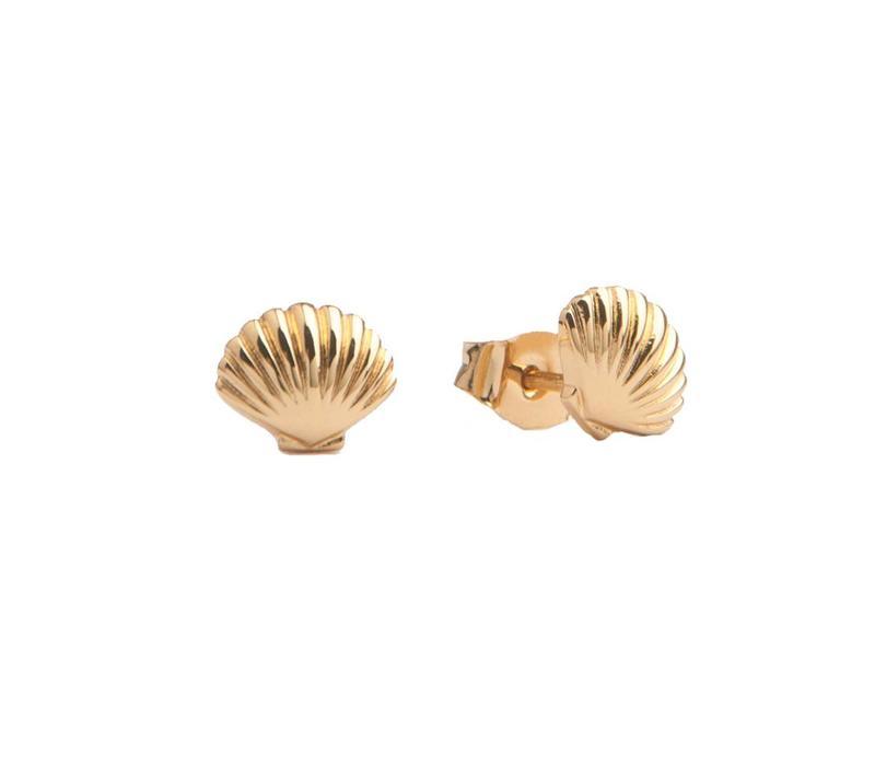 Earrings Sea Shell plated
