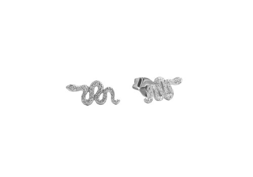 All the Luck in the World Parade Silverplated Earrings Snake