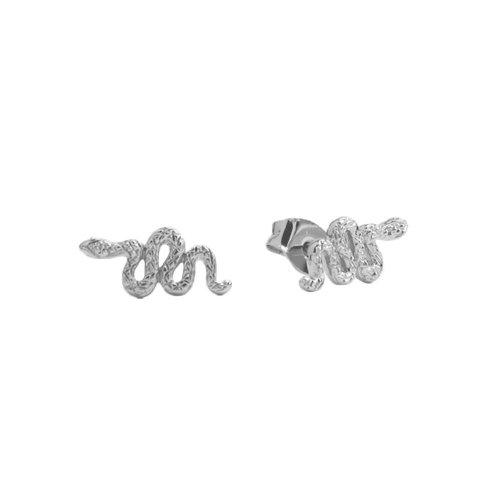 Earrings Snake silver