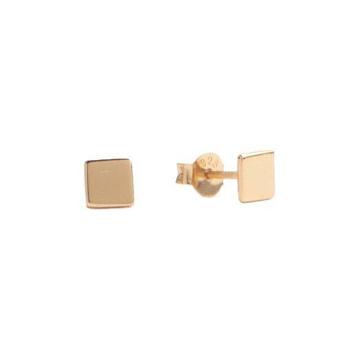 Oorbellen Vierkant 18K goud
