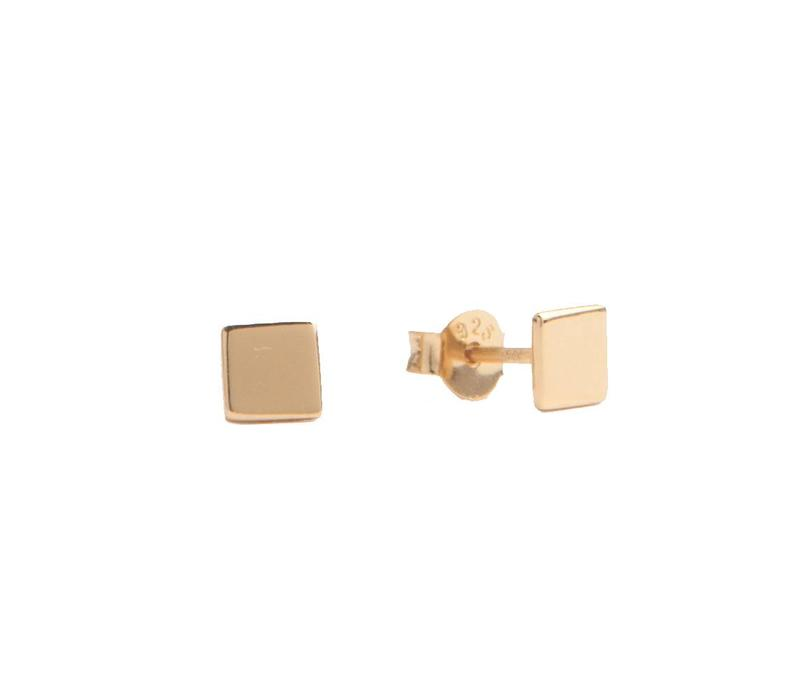 Earrings Square gold