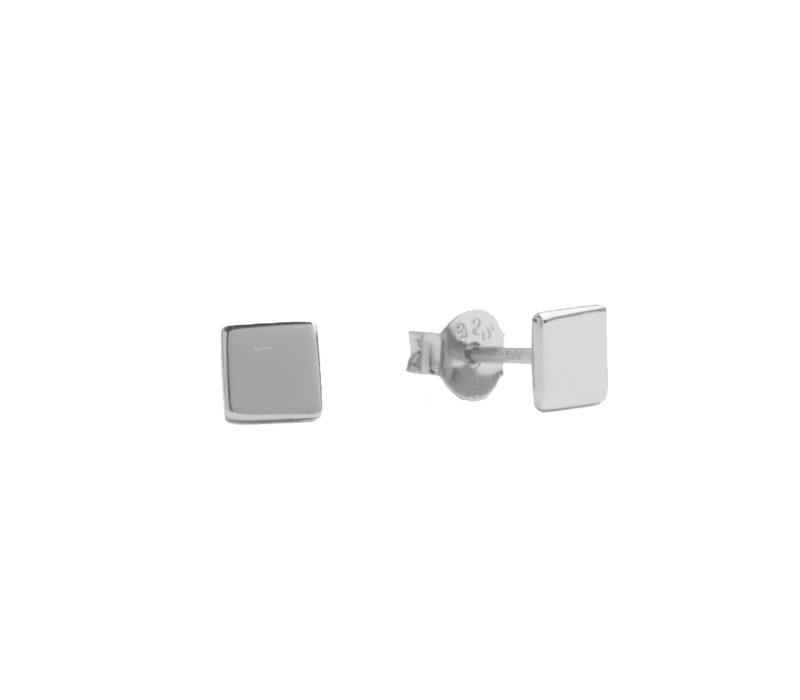 Parade Silverplated Earrings Square