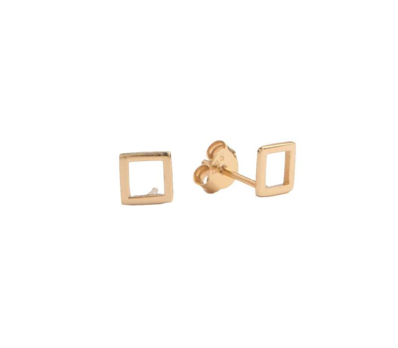 Parade Goldplated Earrings Open Square