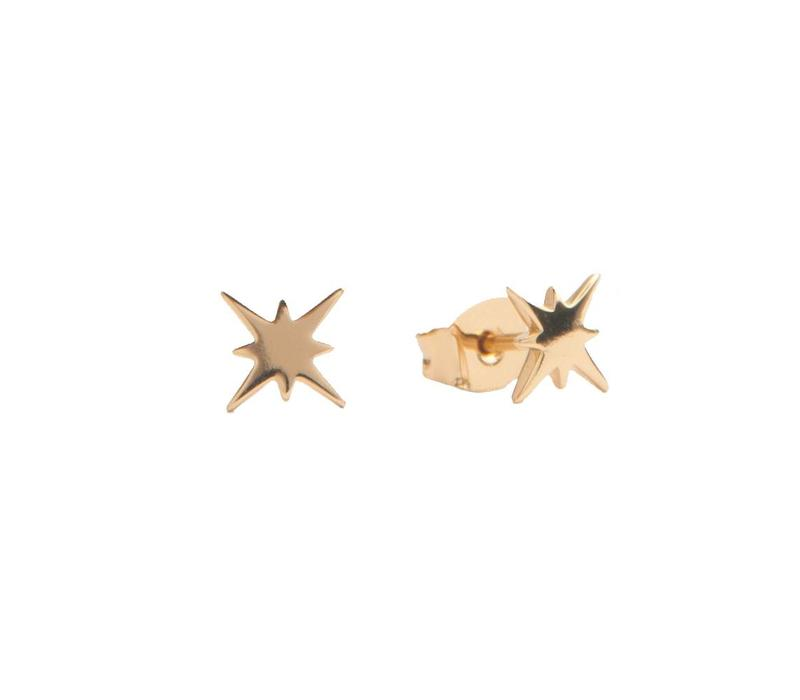 Oorbellen Starburst goud