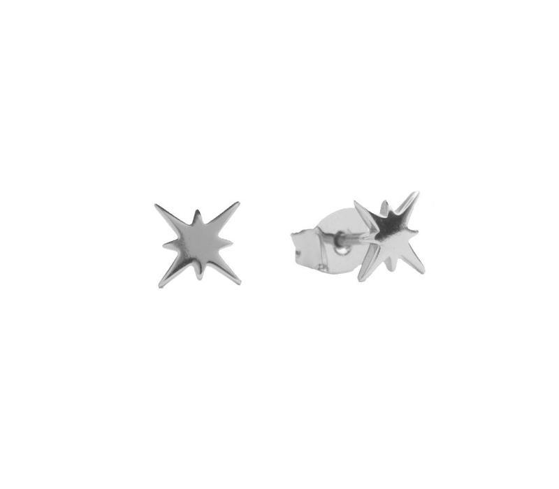 Oorbellen Starburst zilver