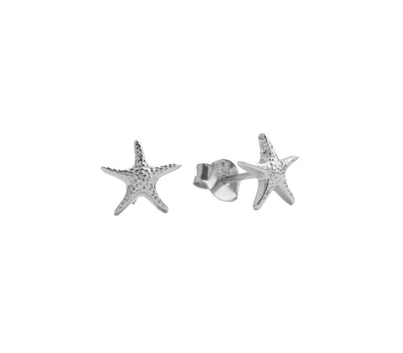 Earrings Starfish silver