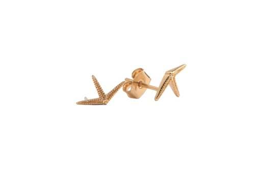 All the Luck in the World Parade Goldplated Earrings Starfish Half