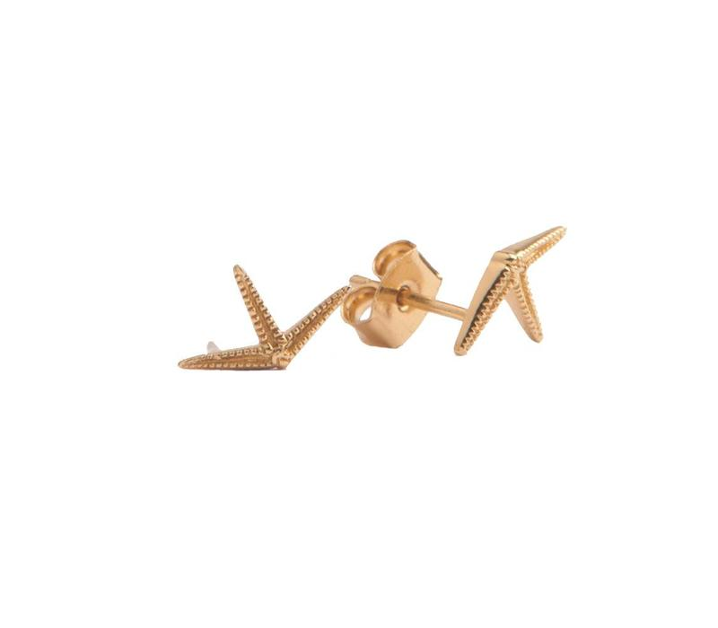 Earrings Starfish Half gold