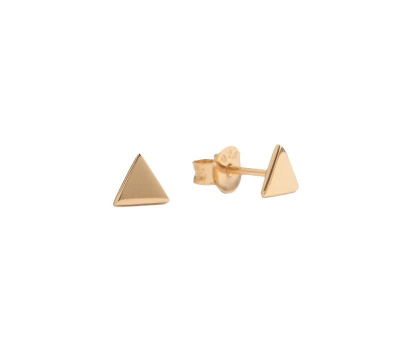 Earrings Triangle plated