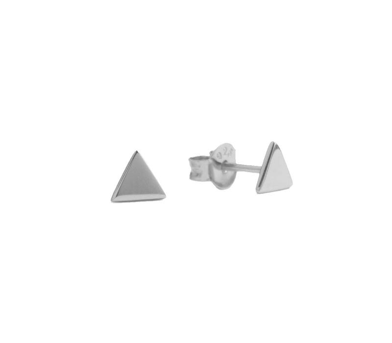 Earrings Triangle silver