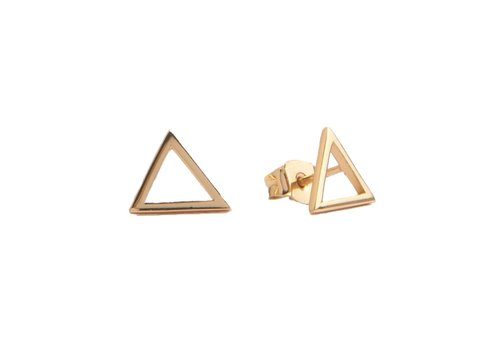 All the Luck in the World Parade Goldplated Earrings Open Triangle
