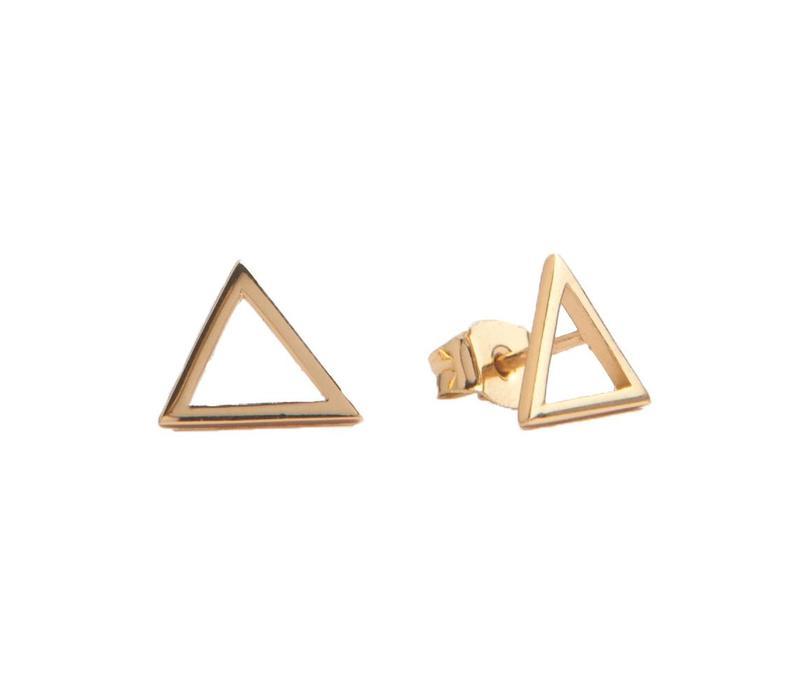 Earrings Open Triangle plated