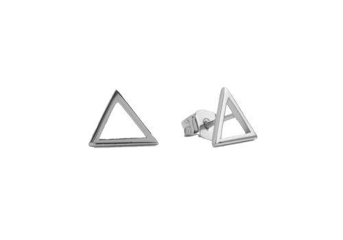 All the Luck in the World Parade Silverplated Earrings Open Triangle