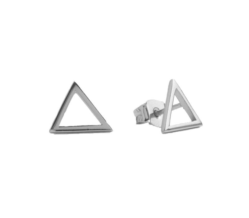 Earrings Open Triangle plated