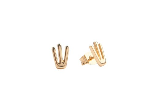 All the Luck in the World Parade Goldplated Earrings Trident