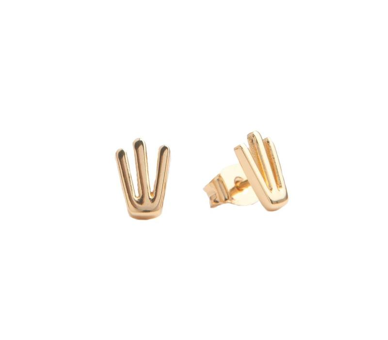 Earrings Trident gold