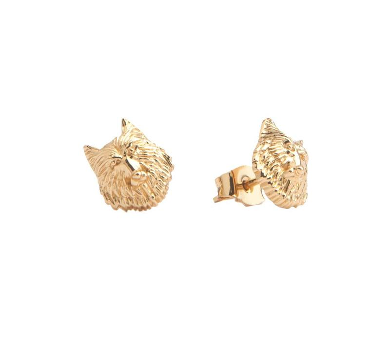 Earrings Wolf gold