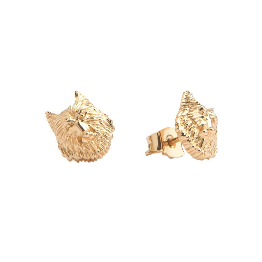 Earrings Wolf Gold