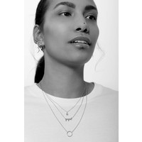 Souvenir Silverplated Necklace Cirlce