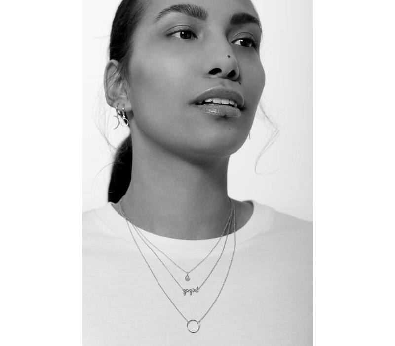 Necklace Cirlce silver