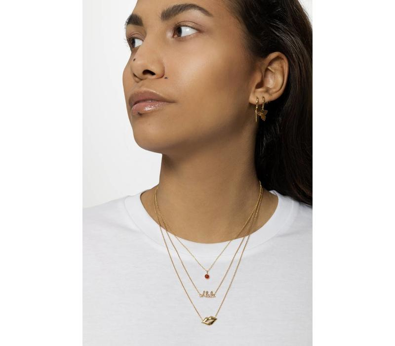 Souvenir Goldplated Necklace Lips
