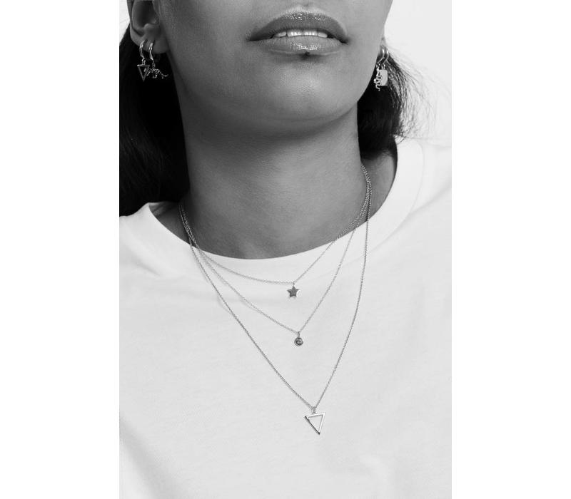 Necklace Open Triangle silver
