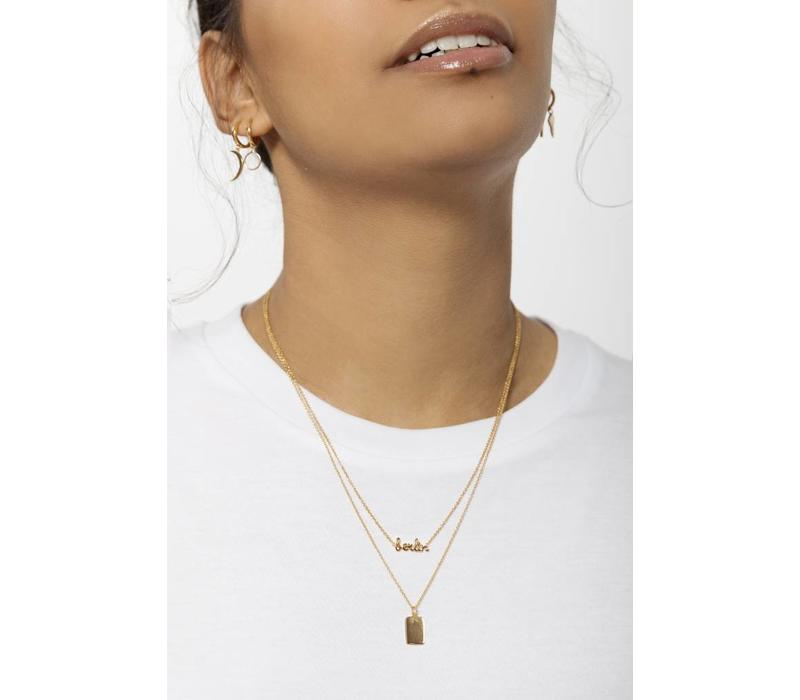 Necklace Rectangle gold