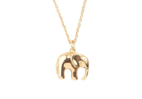 All the Luck in the World Souvenir Goldplated Ketting Olifant