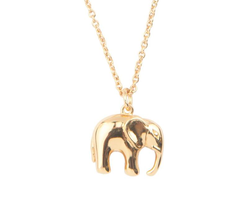 Souvenir Goldplated Ketting Olifant