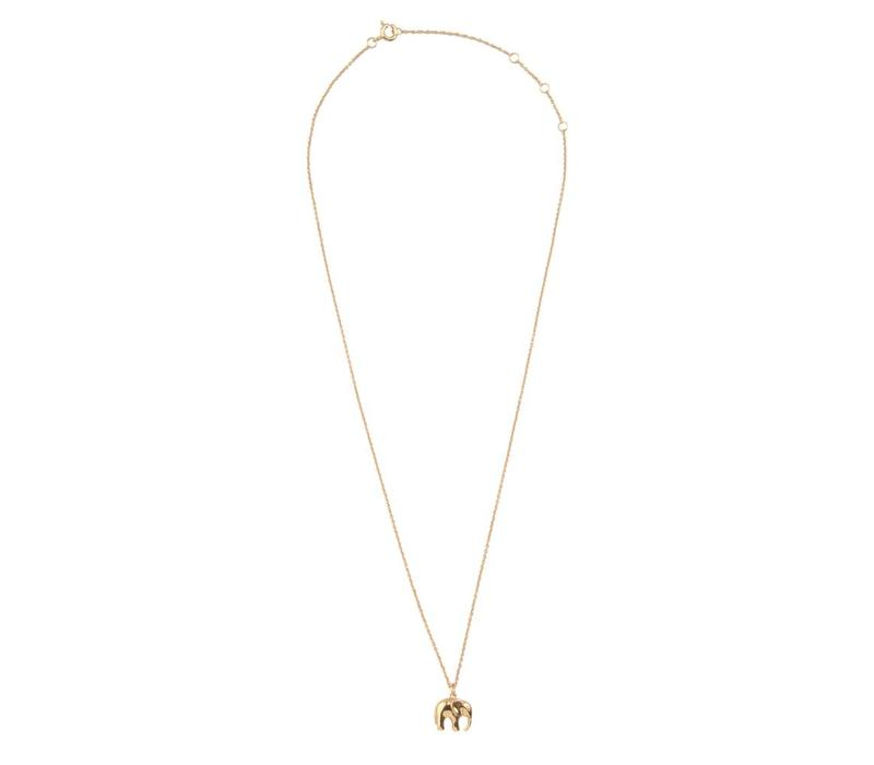 Souvenir Goldplated Necklace Elephant