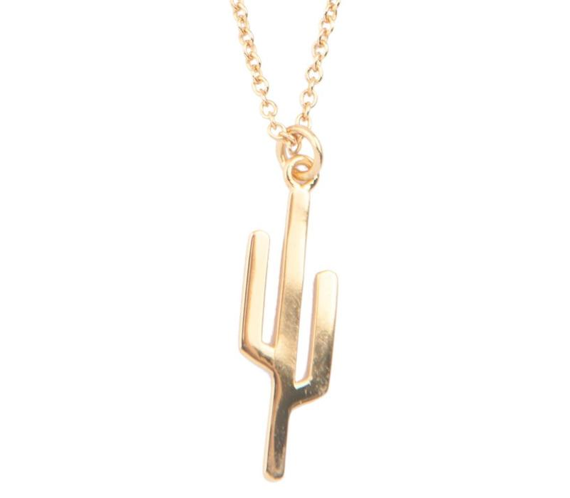 Souvenir Goldplated Necklace Cactus