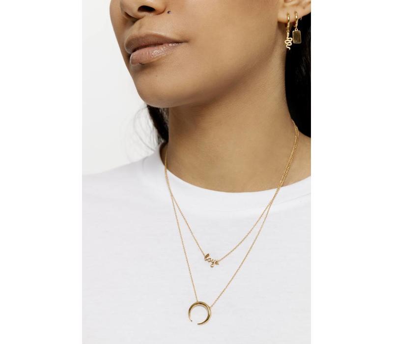 Souvenir Goldplated Necklace Horn