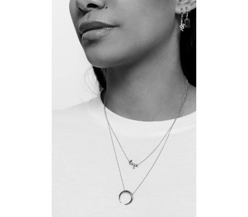 Souvenir Silverplated Necklace Horn