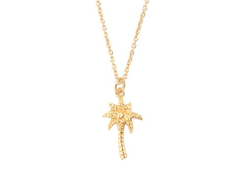 All the luck in the world Ketting Palmboom 18K goud