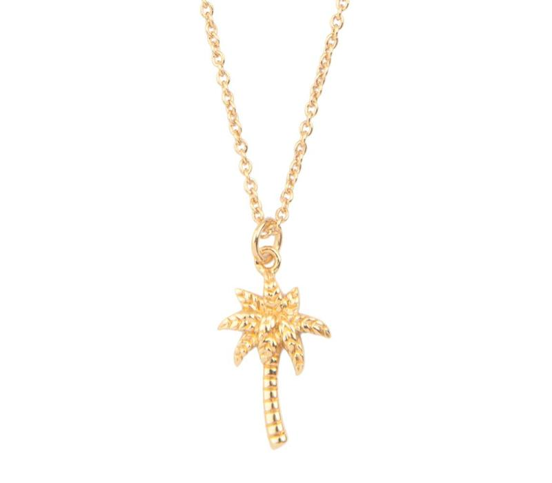 Souvenir Goldplated Necklace Palm Tree