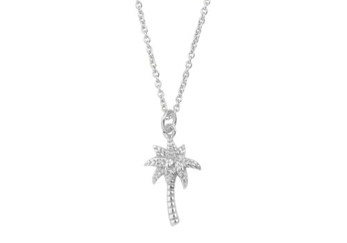 All the Luck in the World Souvenir Silverplated Necklace Palm Tree