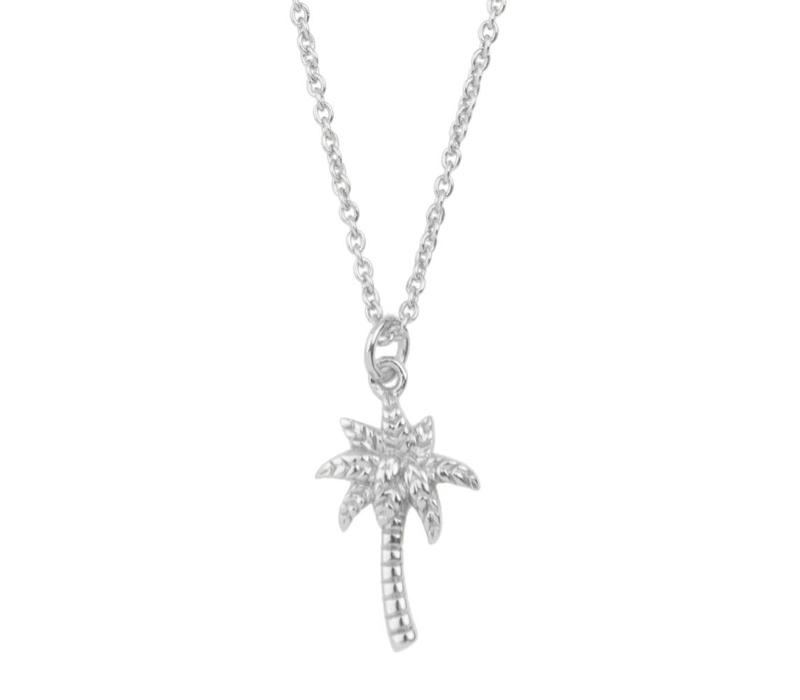 Souvenir Silverplated Necklace Palm Tree