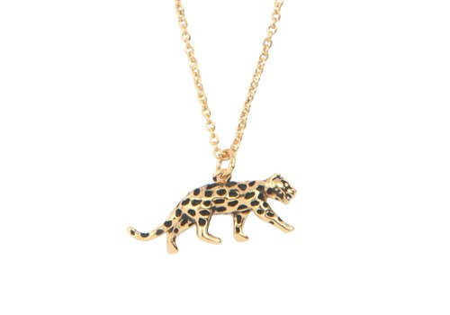All the Luck in the World Necklace Leopard gold