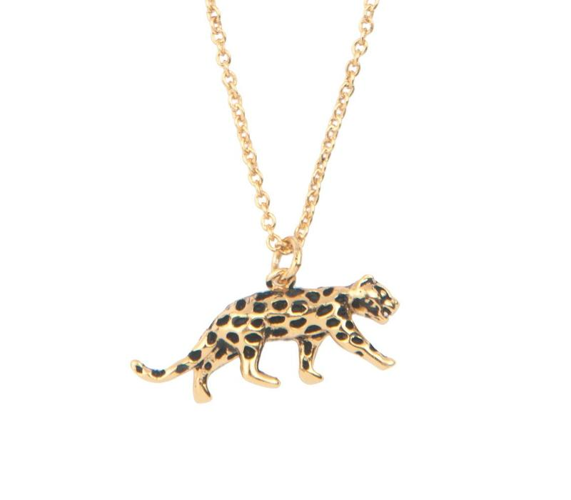 Necklace Leopard plated