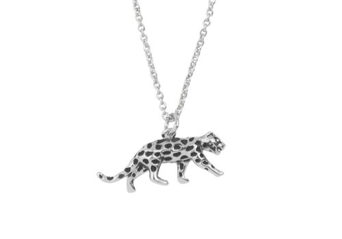 All the Luck in the World Necklace Leopard silver