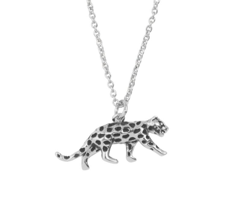 Necklace Leopard silver