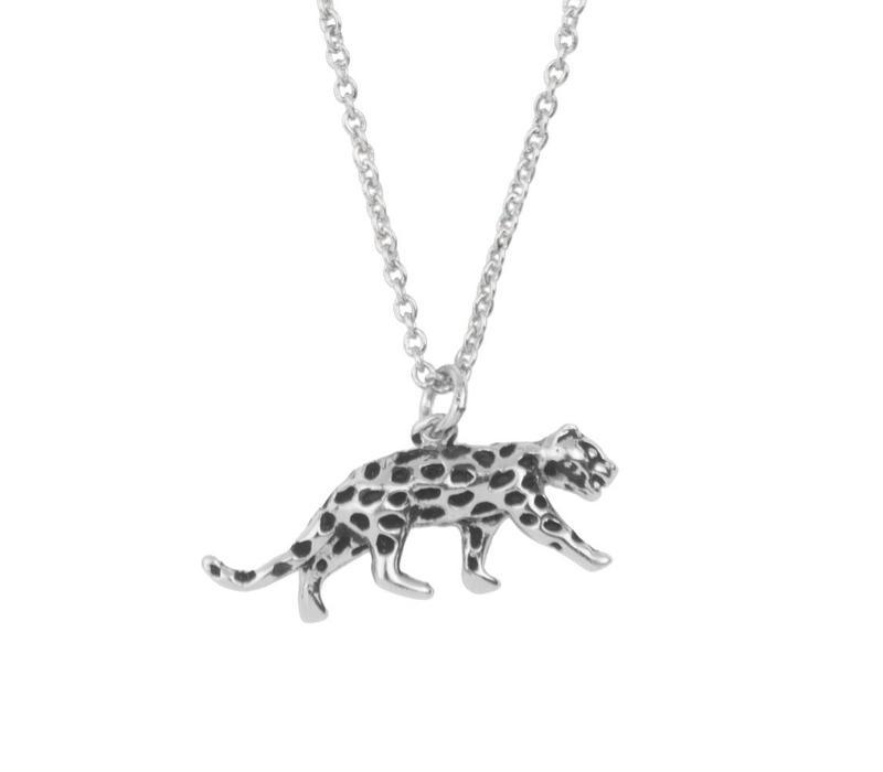 Souvenir Silverplated Necklace Leopard